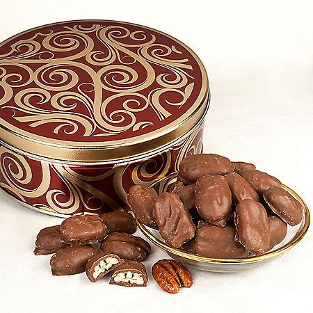Milk Chocolate Glazed Pecans Gift Tin (26 oz.)