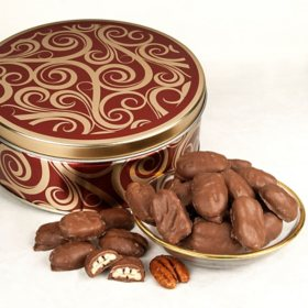 Milk Chocolate Glazed Pecans Gift Tin (26 oz.)