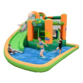 Endless Fun 11 In 1 Inflatable Bounce House And Waterslide Combo