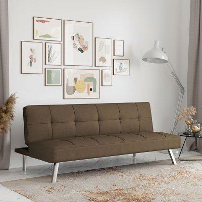 Serta Crestview Convertible Sofa, Brown - Sam\'s Club