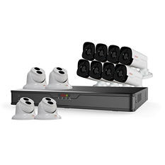 REVO 16 Channel 4K NVR Security System with 4TB HDD, 12 4MP HD IP Cameras, and 100' Night Vision