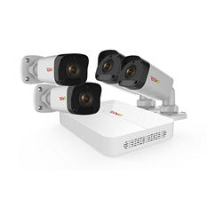 Revo 8-Channel 4K NVR Security System with 2 TB HDD, 4 1080P IP Bullet Cameras, and 100' Night Vision