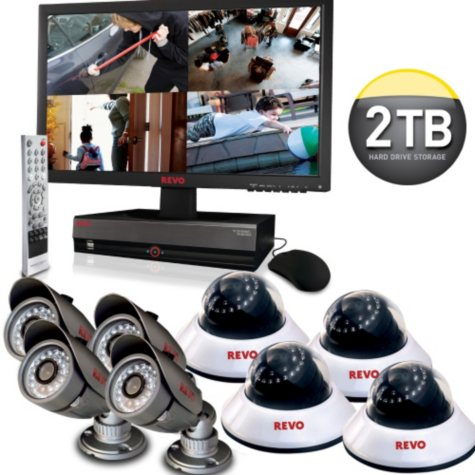 Revo 16 Channel Security System with 2TB Hard Drive and 8 High-Res 600TVL Cameras