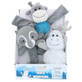 Bone & Barkers White Mountain Dog Toys (Choose Small or Large Pack)