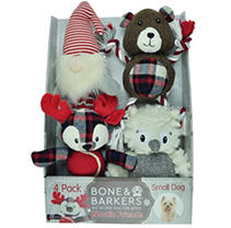 Bone & Barkers Nordic Friends Dog Toys, 4 pk. - Small Dog