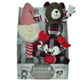 Bone & Barkers Nordic Friends Dog Toys, Choose from 3 pk. or 4 pk.