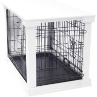 Zoovilla Crate with White Wood Crate Cover - White (Small)