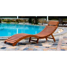 Curved Folding Chaise Lounger
