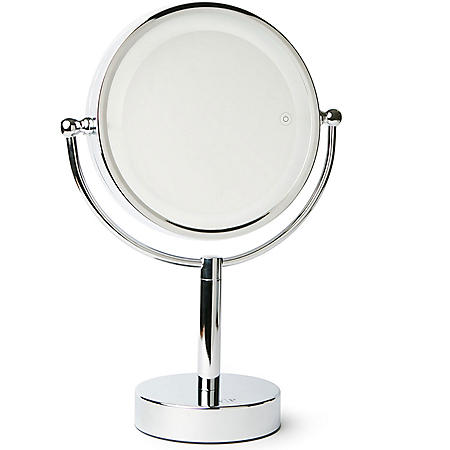 Makeup Mirror.Vanity Planet Gleam Dual Sided 1x 7x Magnifying Mirror Sam S Club