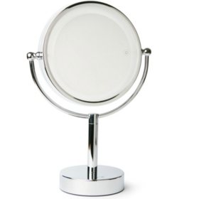 Vanity Planet Gleam | Dual-Sided 1x/7x Magnifying Mirror