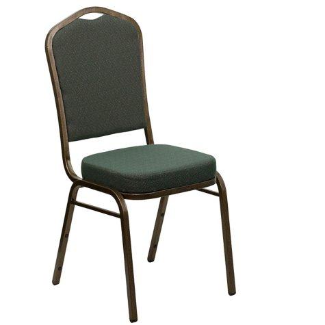 Flash Furniture Fabric Crown Back Banquet Chair Green