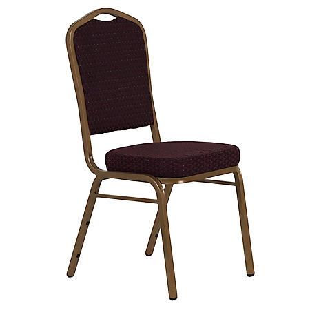 Flash Furniture Fabric Crown Back Banquet Chair Burgundy (40 pack)