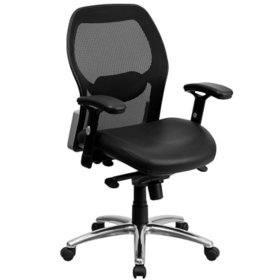 Admirable Ergonomic Mesh Office Chair With Black Leather Seat Sams Club Ocoug Best Dining Table And Chair Ideas Images Ocougorg