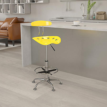 Flash Furniture Tractor Seat Drafting Chair Yellow