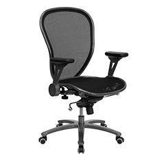 Flash Furniture Super All-Metal Mesh Office Chair, Black