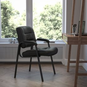 Flash Furniture Leather Reception Chair (Various Colors)