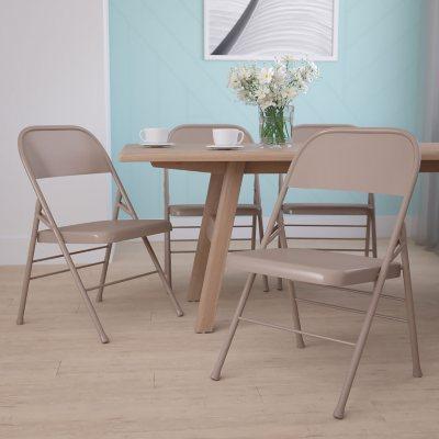 Hercules Metal Folding Chairs Beige Sam S Club