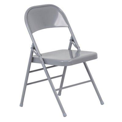 Charmant Hercules Metal Folding Chairs, Gray