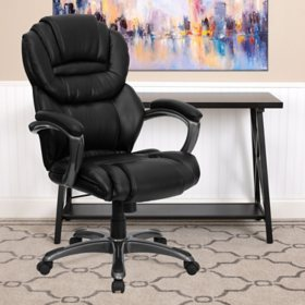 Flash Furniture High-Back Leather Executive Office Chair (Various Options)