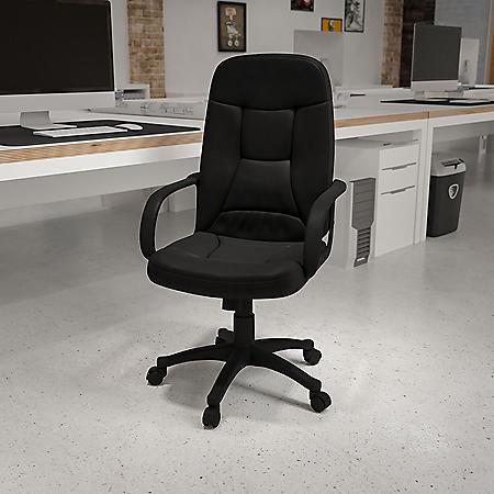 Flash Furniture High-Back Executive Office Chair, Black