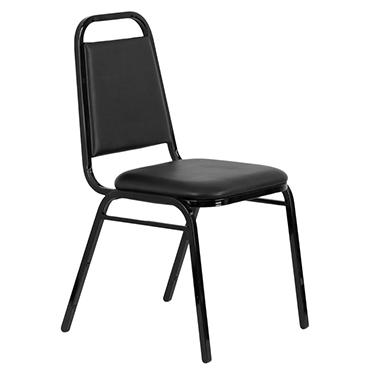 Hercules Vinyl Banquet Chair, Black - 20 Pack