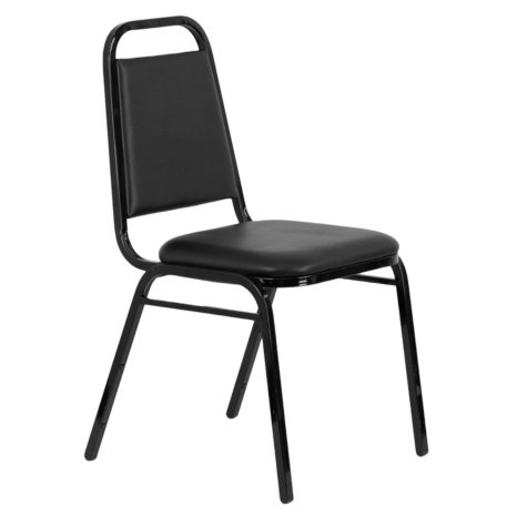 Hercules Vinyl Banquet Chair, Black - 40 Pack