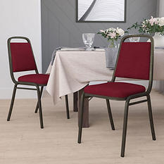 Flash Furniture Hercules Series Fabric Banquet Chair Burgundy