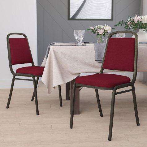 Flash Furniture Hercules Series Fabric Banquet Chair Burgundy