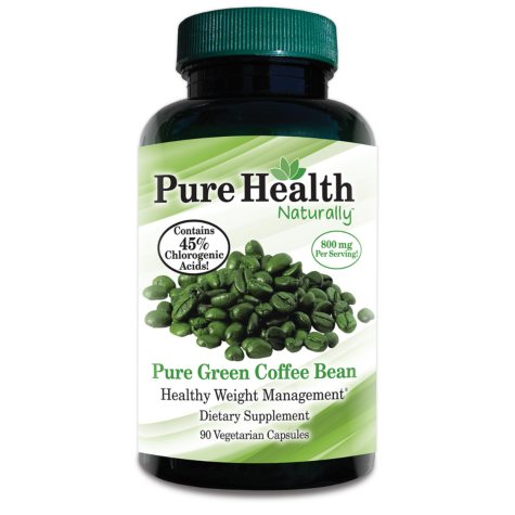 Pure Health Pure Green Coffee Bean Healthy Weight Management Dietary Supplement - 90 ct.
