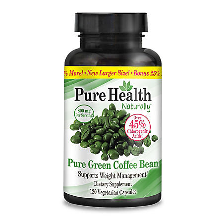Pure Health Pure Green Coffee Bean Healthy Weight Management Dietary Supplement 120 Ct Sam S Club