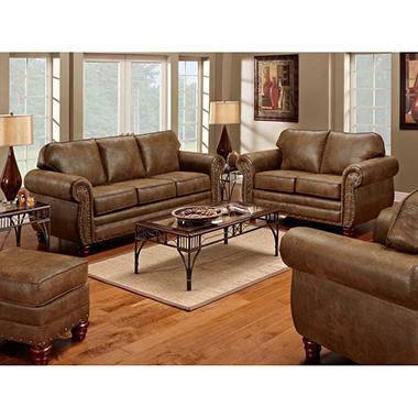 Sedona Sleeper Sofa, Loveseat, Chair and Ottoman, 4-Piece Set ...