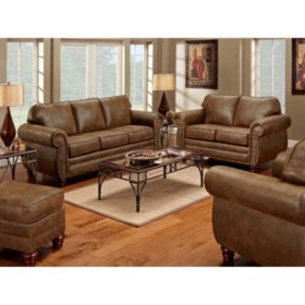 Sedona Sleeper Sofa, Loveseat, Chair and Ottoman, 4-Piece Set