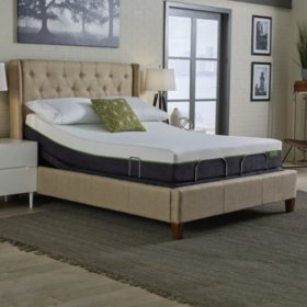 "LulaaBED 9"" Emerald Medium Queen Mattress and LB200 Adjustable Base Set"