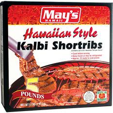 May's Hawaii Kalbi Shortribs (5 lbs.)