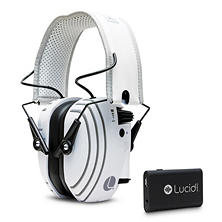 Lucid Audio AMPED Headphones, Bluetooth, Streamer - White