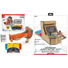 Nintendo Labo Starter Kit + VR Blaster & Nyko PixelQuest Arcade Kit for Switch