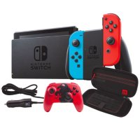 Deals on Nintendo Switch w/Battery Life Controller, Case and Car Charger
