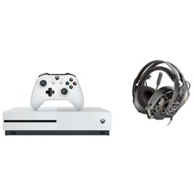 Microsoft Xbox 1 S Bundle: Console and Headset