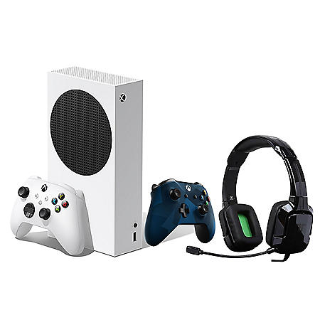 Xbox Series S Bundle with Midnight Forces Blue Controller and Tritton Headset