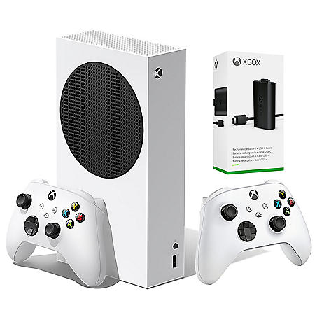 Xbox Series S Bundle with Extra Wireless Controller, and Charger and Play Kit