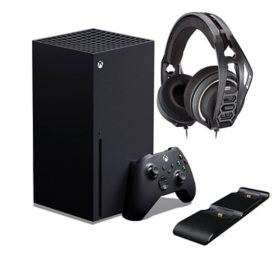 Xbox Series X Bundle with PDP Ultra Slim Charger and RIG 400 Wired Headset