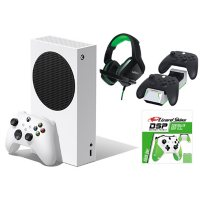 Xbox Series S bundle with  Nyko Charge Base, Green Controller Grip, Nyko Headset