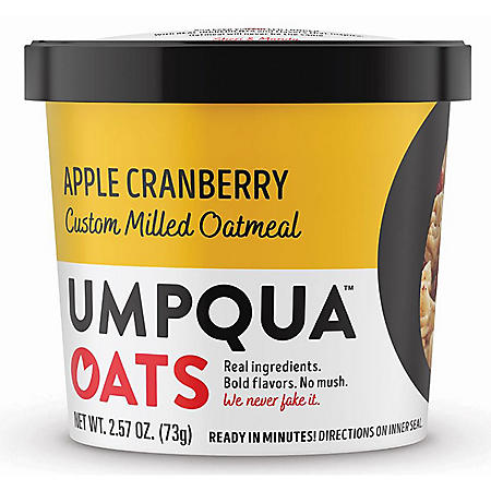 Umpqua Mostly Sunny Apple Cranberry Cinnamon Oatmeal (2.54 oz., 12 ct.)