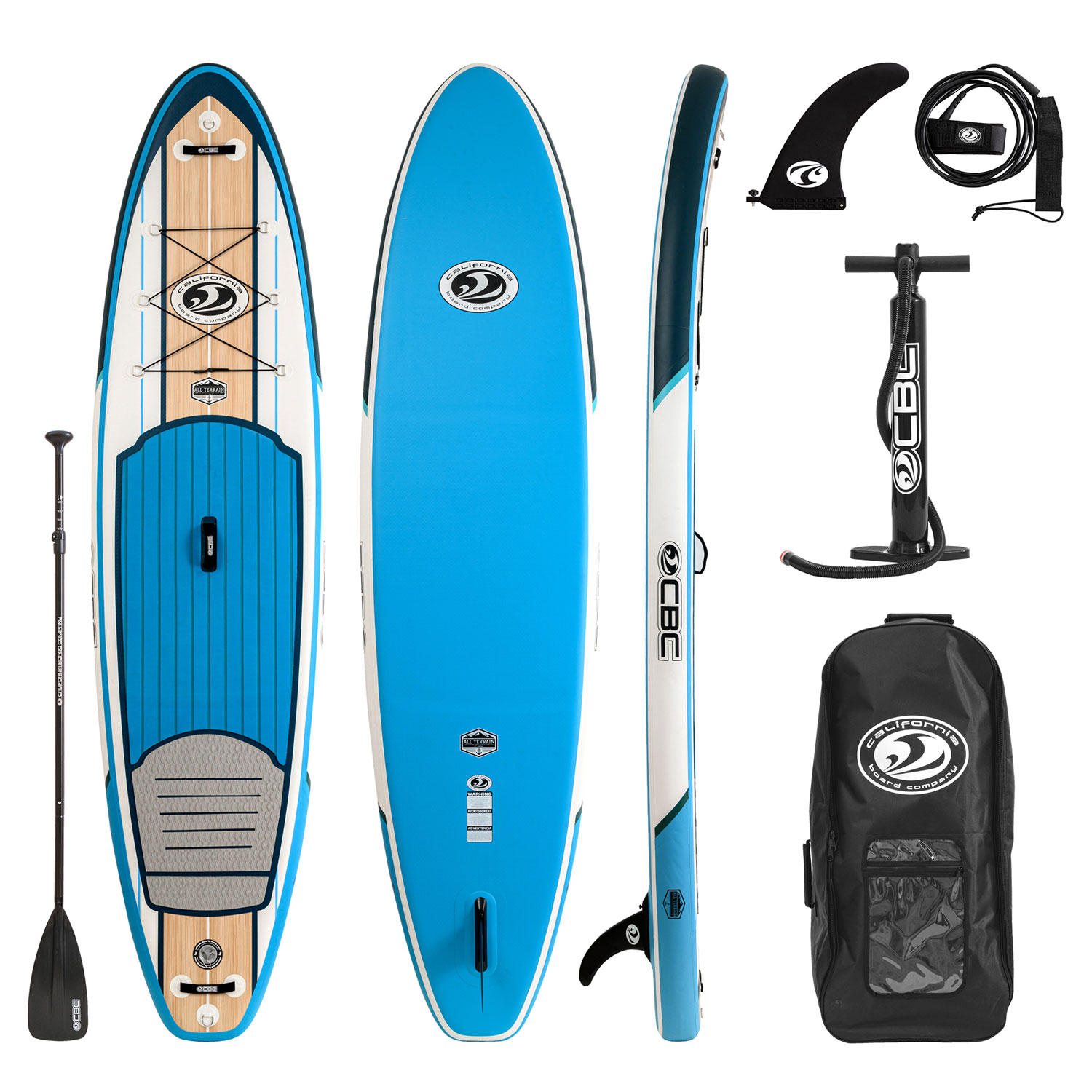 CBC 11′ All-Terrain Inflatable Paddleboard Package