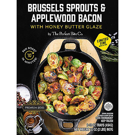 The Perfect Bite Brussels Sprouts & Applewood Bacon, Frozen (32 oz.)
