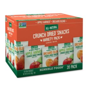 Sensible Foods Crunch Dried Snacks Variety Pack (0.32 oz., 20 ct.)