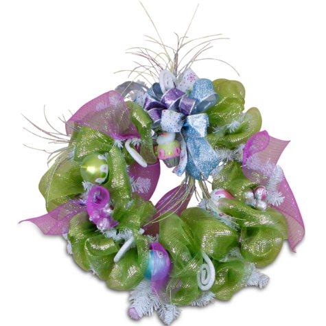 Holiday Mesh Wreath - Charmed