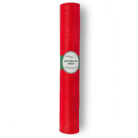 Holiday Decorative Mesh Ribbon (21 in. x 10 yd. rolls)