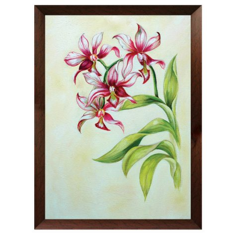 "Framed Hand Painted Oil Art - ""Stargazer Lilies"""