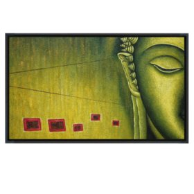 "Framed Hand-Painted Oil Art ""Buddha"""